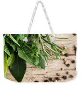 Kitchen Herbs Weekender Tote Bag by Nailia Schwarz