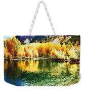 Lake Reflection In Fall Weekender Tote Bag