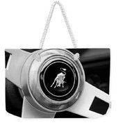 Lamborghini Steering Wheel Emblem Weekender Tote Bag