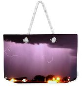 Late Evening Nebraska Thunderstorm Weekender Tote Bag