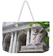 Lion New York Public Library Weekender Tote Bag