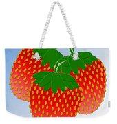 3 Little Berries Are We Weekender Tote Bag by Andee Design