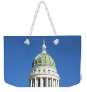 Maine State Capitol Building In Augusta Weekender Tote Bag by Keith Webber Jr
