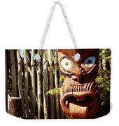 Maori Carving Weekender Tote Bag by Les Cunliffe
