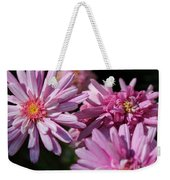 Marguerite Daisy Named Double Pink Weekender Tote Bag