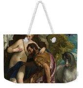 Mars And Venus United By Love Weekender Tote Bag