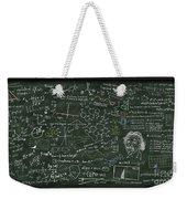 Maths Formula On Chalkboard Weekender Tote Bag by Setsiri Silapasuwanchai