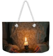 Medieval Woman Holding A Candle Weekender Tote Bag