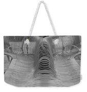 Metal Strips In Black And White Weekender Tote Bag
