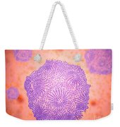 Microscopic View Of Canine Parvovirus Weekender Tote Bag