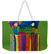 Multicolored Paint Can With Brushes Weekender Tote Bag