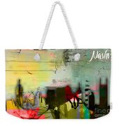 Nashville Skyline Watercolor Weekender Tote Bag