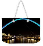 Newcastle Quayside And Sage Gateshead Weekender Tote Bag