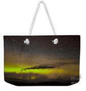 Northern Lights And Myriad Of Stars Weekender Tote Bag