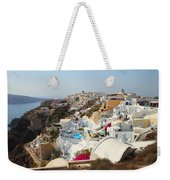 Oia Village Santorini Greece Weekender Tote Bag