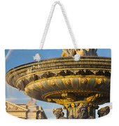 Paris Fountain Weekender Tote Bag