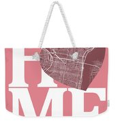 Philadelphia Street Map Home Heart - Philadelphia Pennsylvania R Weekender Tote Bag