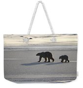 Polar Bear Mother And Cub Weekender Tote Bag