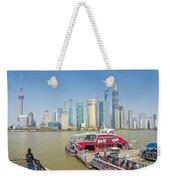 Pudong Skyline In Shanghai China Weekender Tote Bag