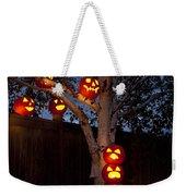 Pumpkin Escape Over Fence Weekender Tote Bag