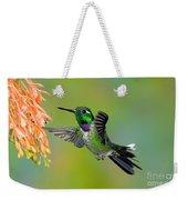 Purple-bibbed Whitetip Hummingbird Weekender Tote Bag