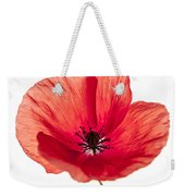 Red Poppy Flower Weekender Tote Bag