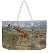 Reticulated Giraffe Weekender Tote Bag