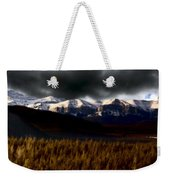 Rocky Mountains In Winter Weekender Tote Bag