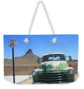 Route 66 - Old Green Chevy Weekender Tote Bag