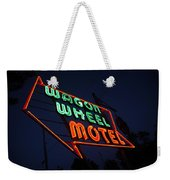 Route 66 - Wagon Wheel Motel Weekender Tote Bag