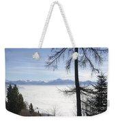 Sea Of Fog Over An Alpine Lake Weekender Tote Bag
