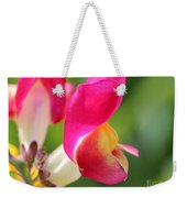 Snapdragon Named Floral Showers Red And Yellow Bicolour Weekender Tote Bag