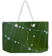 Spider Web With Dew Drops  Weekender Tote Bag