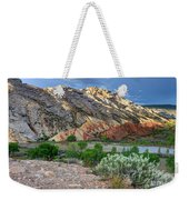 Spring Storm Over Split Mountain Dinosaur National Monument Weekender Tote Bag