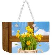 Spring Window Weekender Tote Bag by Amanda Elwell