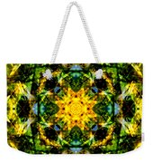 Stained Glass Sun Mandala Weekender Tote Bag