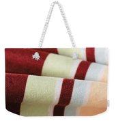Striped Material Weekender Tote Bag