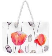 Stylized Poppy Flowers Illustration  Weekender Tote Bag