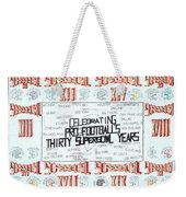 Superbowl Poster Weekender Tote Bag