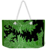 Sydney Street Map - Sydney Australia Road Map Art On Color Weekender Tote Bag
