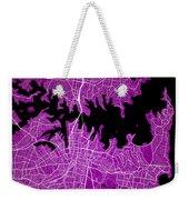 Sydney Street Map - Sydney Australia Road Map Art On Colored Bac Weekender Tote Bag