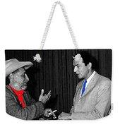 Ted Degrazia Dick Mayers Kvoa Tv Studio Polaroid By News Director Garry Greenberg January 1966 Weekender Tote Bag