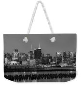 The Empire State Building Pastels Weekender Tote Bag