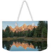 The Grand Tetons Schwabacher Landing Grand Teton National Park Weekender Tote Bag