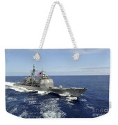The Guided-missile Cruiser Uss Weekender Tote Bag