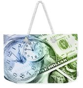Time Is Money Weekender Tote Bag by Les Cunliffe