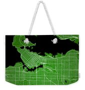 Vancouver Street Map - Vancouver Canada Road Map Art On Colored  Weekender Tote Bag