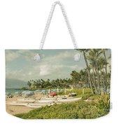 Wailea Beach Maui Hawaii Weekender Tote Bag by Sharon Mau