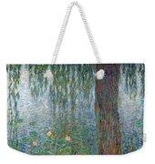 Waterlilies Morning With Weeping Willows Weekender Tote Bag