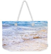 Waves Breaking On Tropical Shore Weekender Tote Bag by Elena Elisseeva
